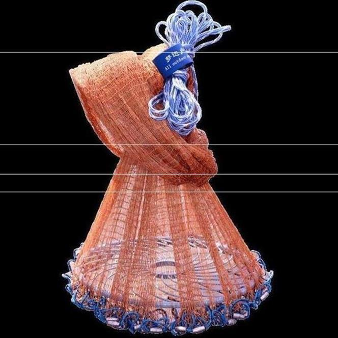 Douyin Celebrity Style Yi Xuan Fishing Tool Useful Product Network Fool Fishnet Traditional Net Casting Automatic Frisbee-Americ