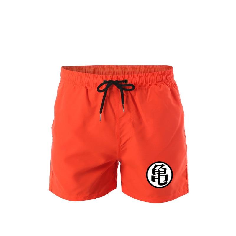 Men's Quick Dry Board Shorts Summer Holiday Solid Split Beach Surf Swimming Trunks Hybrid Sport Shorts For Man Dragon Ball Print