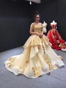 Image 4 - J67024 Jancember נשים שמלות לחתונה מסיבת עבור אורח מתוקה כבוי כתף תחרה בתוספת גודל ערב שמלות Vestido Noite