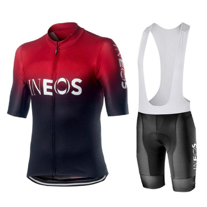 2019 New INEOS Summer Cycling Jersey Set Breathable Team Racing Sport Bicycle Jersey Mens Cycling Clothing Short Bike Jersey NW
