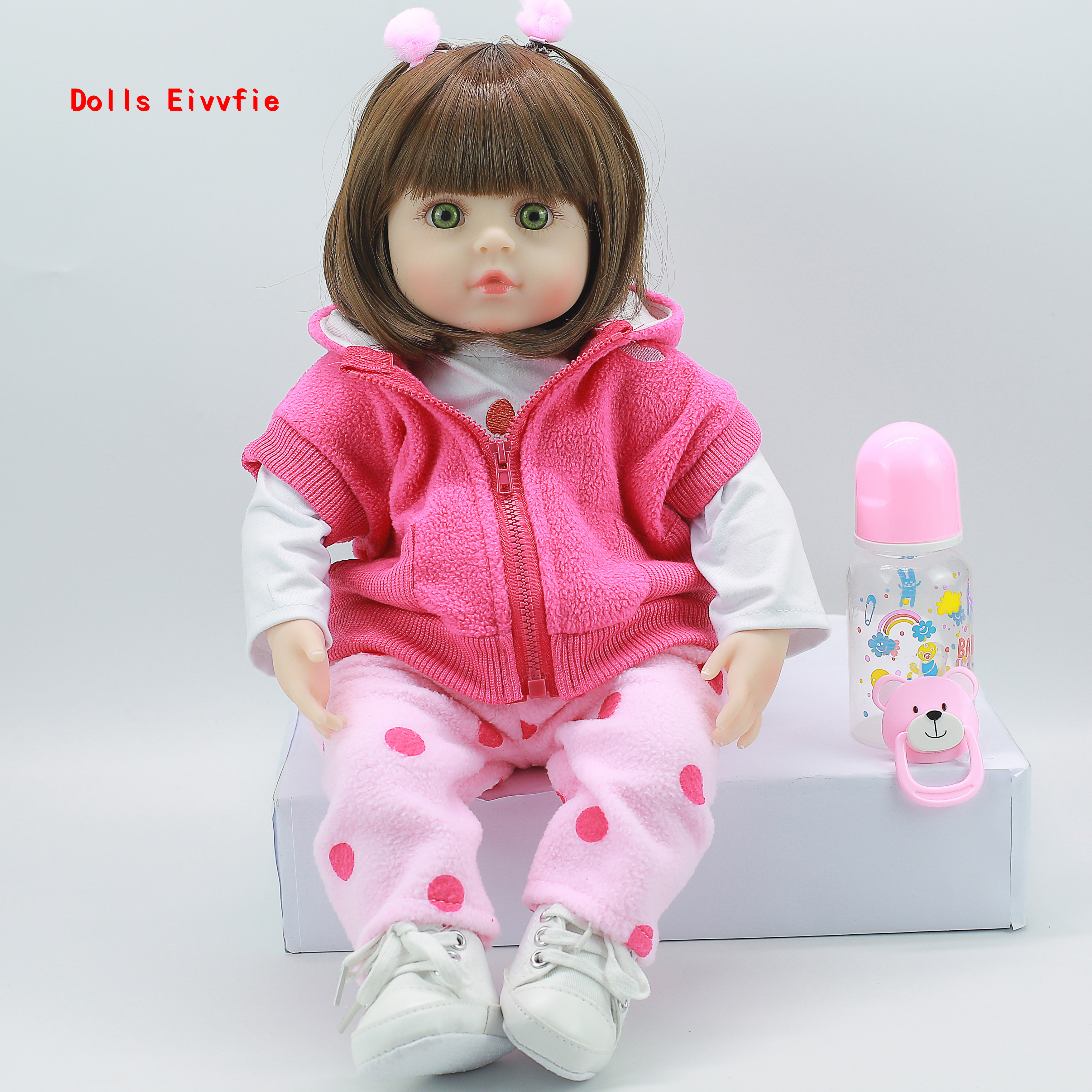 Silicone Reborn Dolls 47cm Alive Toddler Realistic Lifelike Real Girl Baby Doll
