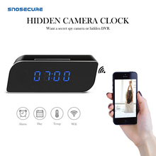 SNOSECURE Time Alarm Clock 1080P WIFI Mini Camera Wireless Motion Sensor Nanny H.264 IP Security Night Vision Home Remote Camera