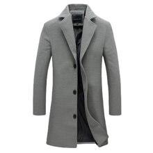 2020 new autumn and winter men's coat wool medium length