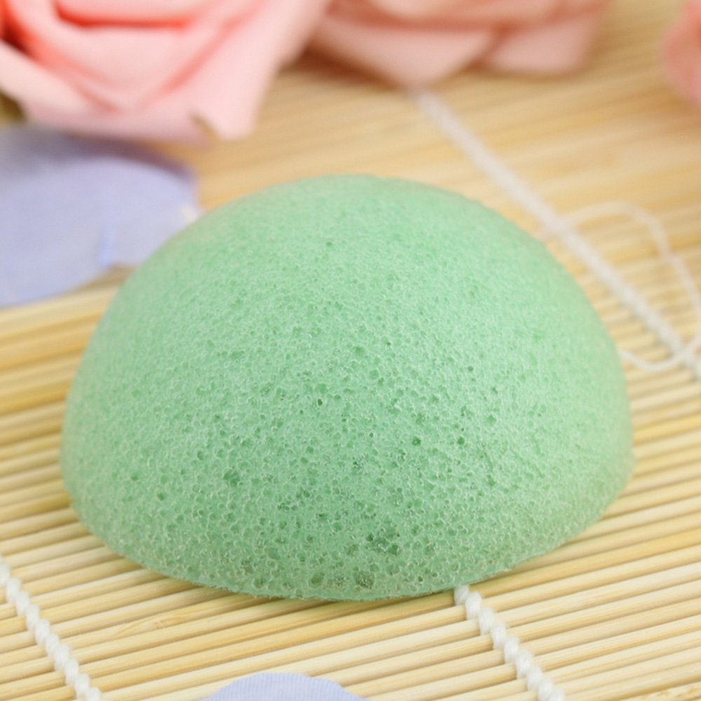 Organic Skin Care Exfoliating Konjac Sponge - 3 Pack Halfball Shape with 3 color% C2% A0 Натуральный