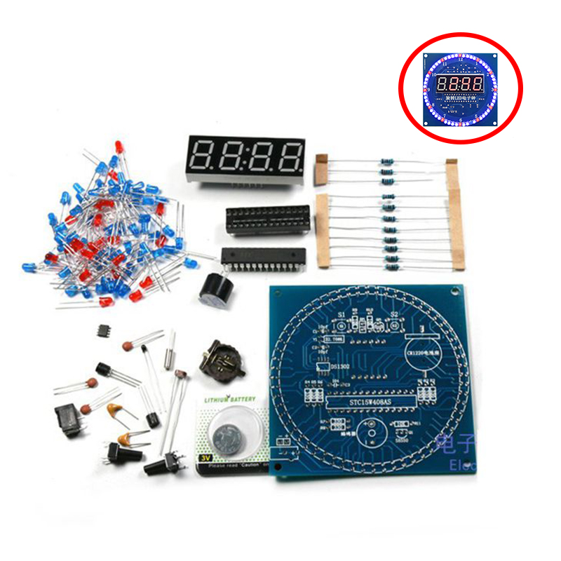 <font><b>DS1302</b></font> Rotating LED Display Alarm Electronic <font><b>Clock</b></font> Module DIY KIT LED Temperature Display for arduino image