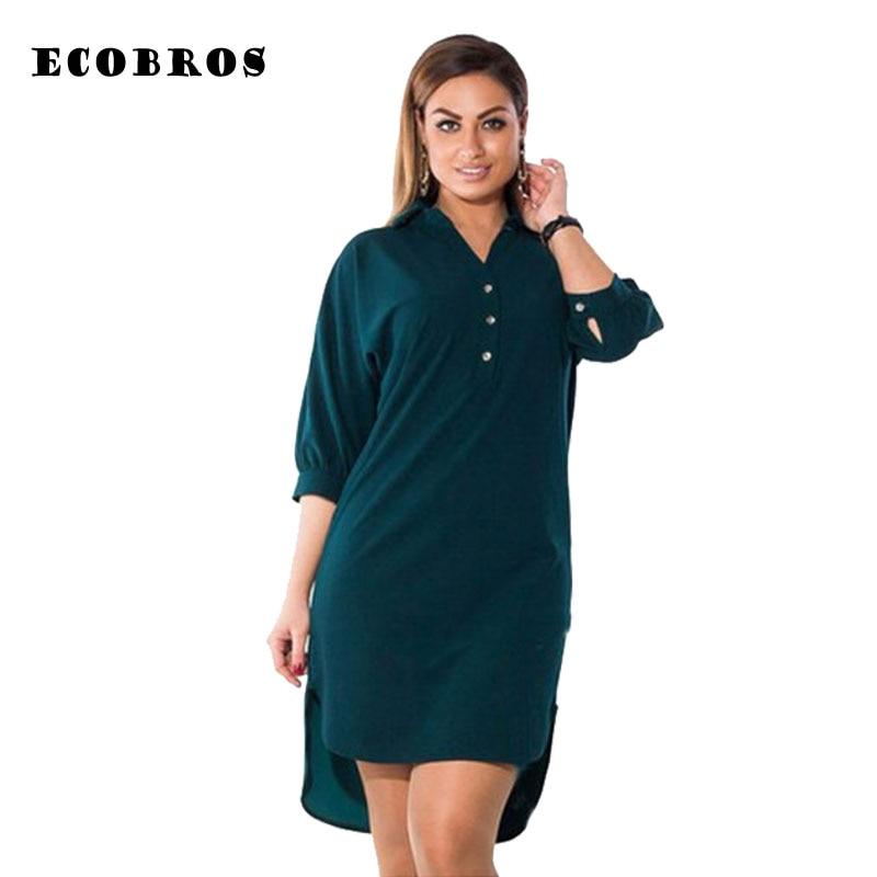 Big Size 6XL 2020 Fat MM Women Summer Dress Fashion Loose Irregular Shirt Dresses Plus Size Women Clothing Dress Vestidos