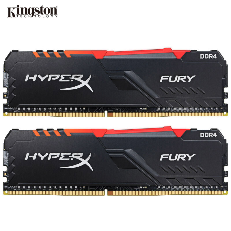 Kingston HyperX FURY RAM DDR4 RGB Memory 2400MHz 2666MHz 3000MHz 3200MHz 3466MHz DIMM XMP  Memoria Ddr4 For Desktop Memory Ram