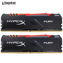 Kingston memória ram hyperx fury ddr4, memória rgb 2400mhz 2666mhz 3000mhz 3200mhz dimm, 3466mhz ddr4 para ram de memória de desktop