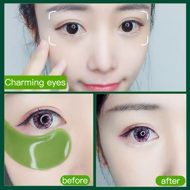 60 Pieces Golden Collagen Mask Lady Natural Moisturizing Gel Eye patches Remove Dark Circles Anti Age Bag Eye Wrinkle Skin Care 2