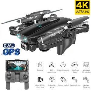 Лучший RC Дрон 4K HD камера GPS Follow Pro селфи складной полет 20 минут Квадрокоптер с WiFi FPV 1080P камера Квадрокоптер