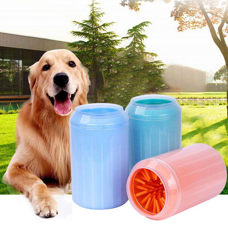 <font><b>Dog</b></font> <font><b>Paw</b></font> <font><b>Cleaner</b></font> Cup Soft Silicone Combs Portable Outdoor Pet towel Foot Washer <font><b>Paw</b></font> Clean Brush Quickly Wash Foot Cleaning Bucket image