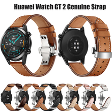 22mm Watch Band Genuine Leather For Huawei Watch GT 2 Watch Band Strap for Huawei Watch GT Bracelet Strap Huawei Watch 2 Classic