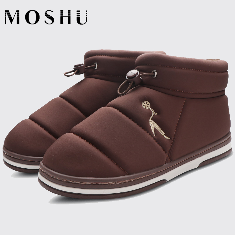 Ankle-Boots Home-Shoes Slip-On Zipper Winter Casual Women Ladies with Plush Solid No