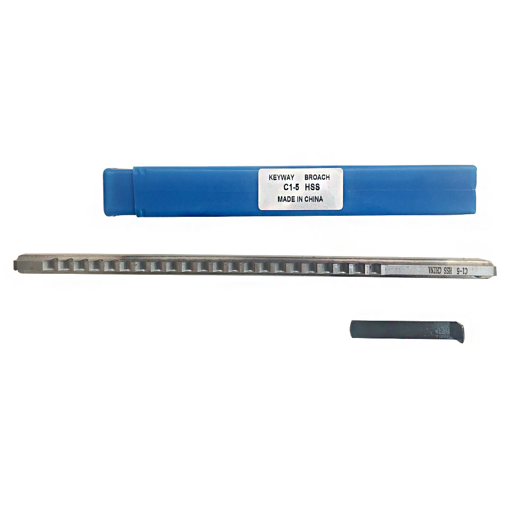 LW-Tool 5mm Keyway Broach C1 Push-Type Metric Size with Shim HSS Broach Cutting Tool for CNC Machine Size : 5mm