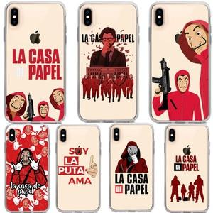 La casa de papel Bella Ciao Soft silicone TPU Phone Cases For iPhone X 6 6S 7 8 Plus XR Xs Max 5S 5 SE Spanish TV Cover Coque(China)