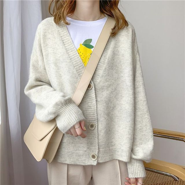 Женский кашемировый свитер на пуговицах 2