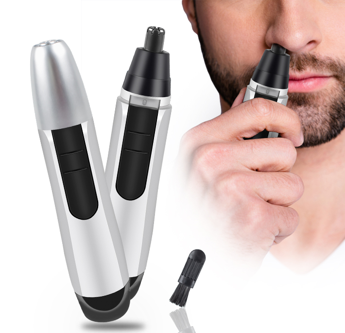 Electric Nose Hair Trimmer Portable Shaving Nose Ear Eyebrow Hair Clipper Nose Cleaner Washable Multifunctional Hair Removal
