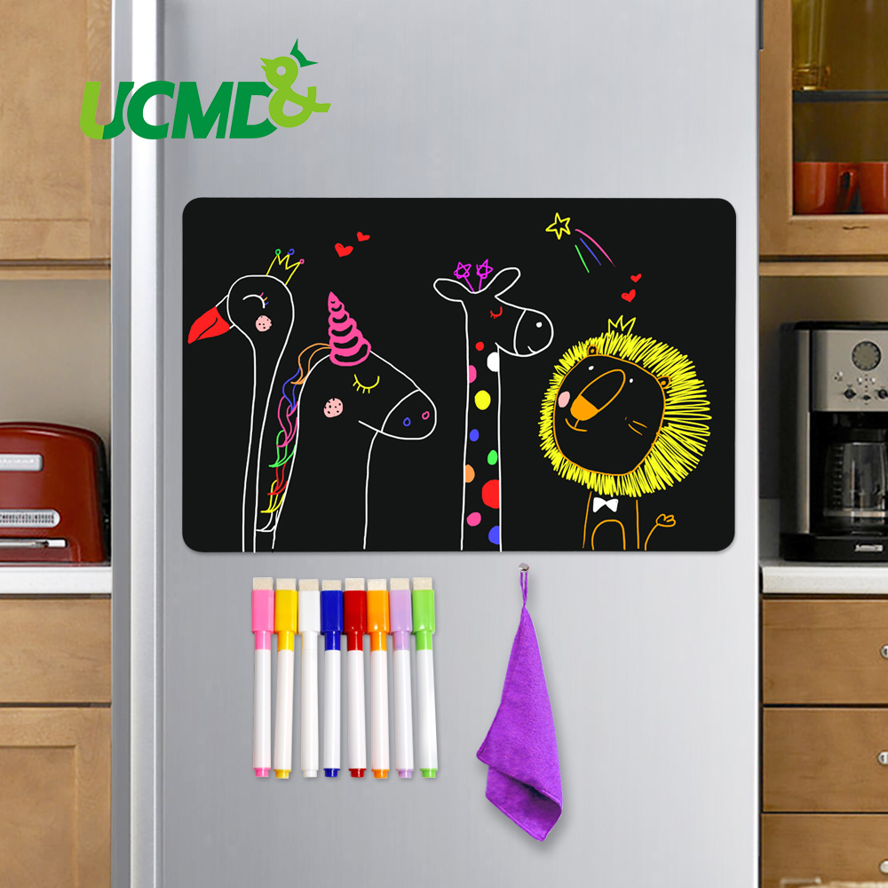 8x12 Inch Magnetic Blackboard Sheet For Kitchen Fridge Sticker Office Calendar Menu Planning Grocery Shopping List Message Board