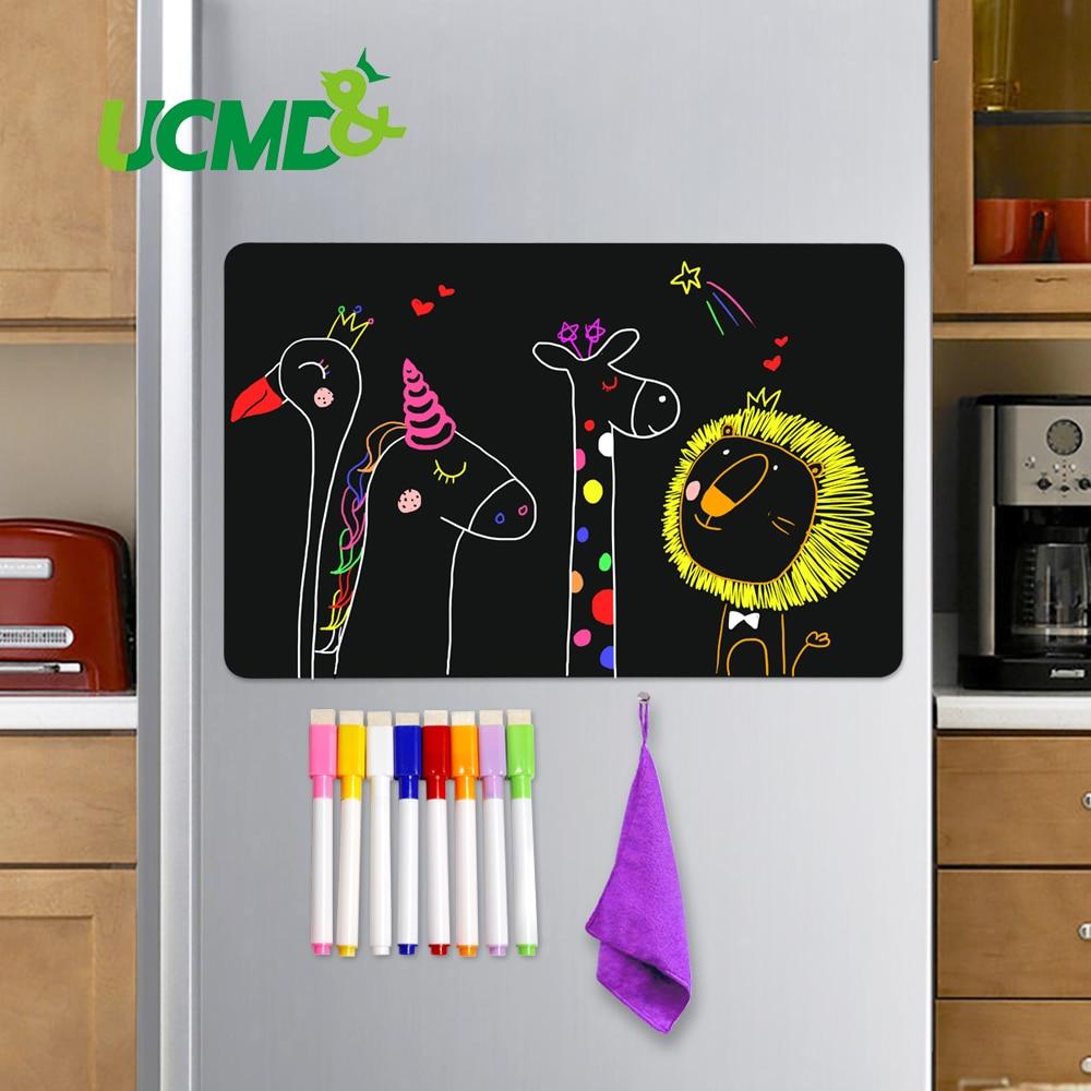 8x12 Inch Magnetic Blackboard Sheet For Kitchen Fridge Sticker Office Calendar Menu Planning Grocery Shopping List Message Board