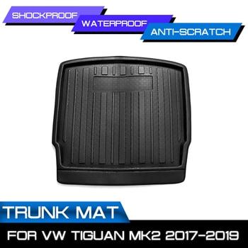 ل VW Tiguan MK2 2017 2018 2019 ل Volkswagen سيارة البضائع بطانة التمهيد صينية الخلفي الجذع غطاء مات حصيرة سجادة أرضيات ركلة سادة