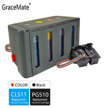 Gracemate Kompatibel untuk Canon PG510 CL511 CISS Bulk Ink Cartridges untuk MP240 MP250 MP260 MP280 MP480 MP490 IP2700 MP499 Printer(China)