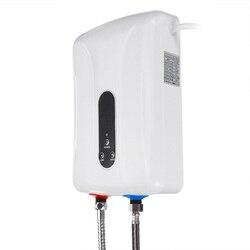 5500W 220V Mini calentador de agua eléctrico instantáneo calentador de agua eléctrico ducha seguro calentador de agua eléctrico inteligente