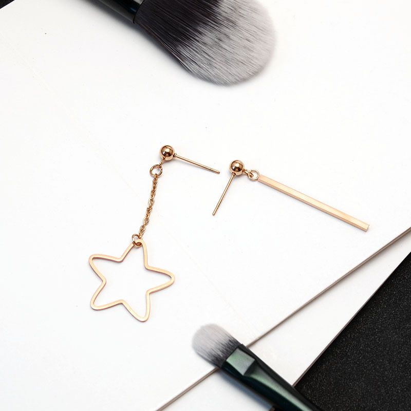 European Style Hollow Out Star Earrings For Women Female Simple Gold Color Stainless Steel Eardrop 2020 Luxury Jewelry Designs