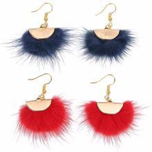 Louleur 2019 New Trendy Cute Fur Ball Earrings Pom Drop For Women Girls Dangle Fashion Jewelry Bijoux Gifts