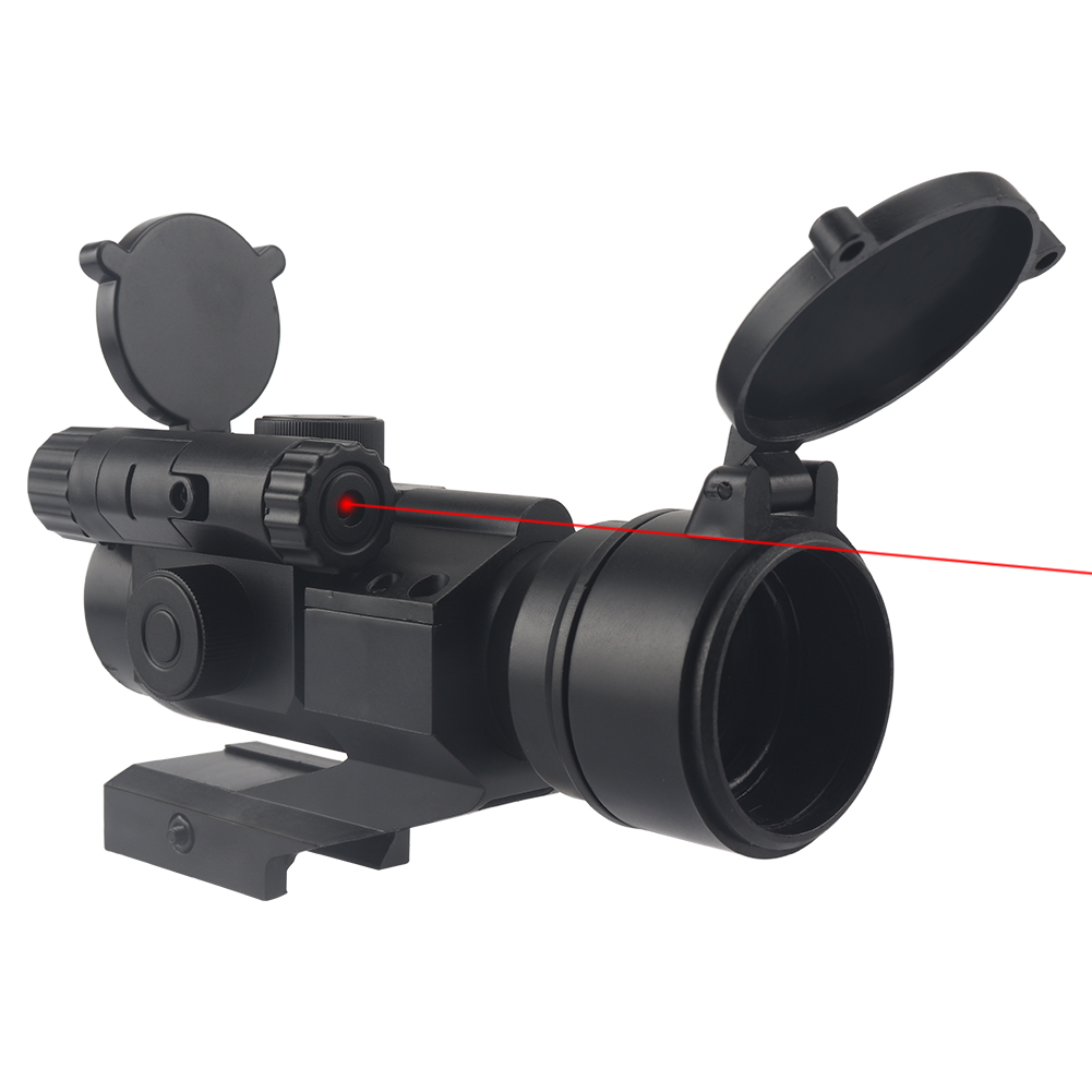 High Quality Integrated Green Dot Sight Hunting Accessories with Red Laser for Nerf (with 7cm Rail)