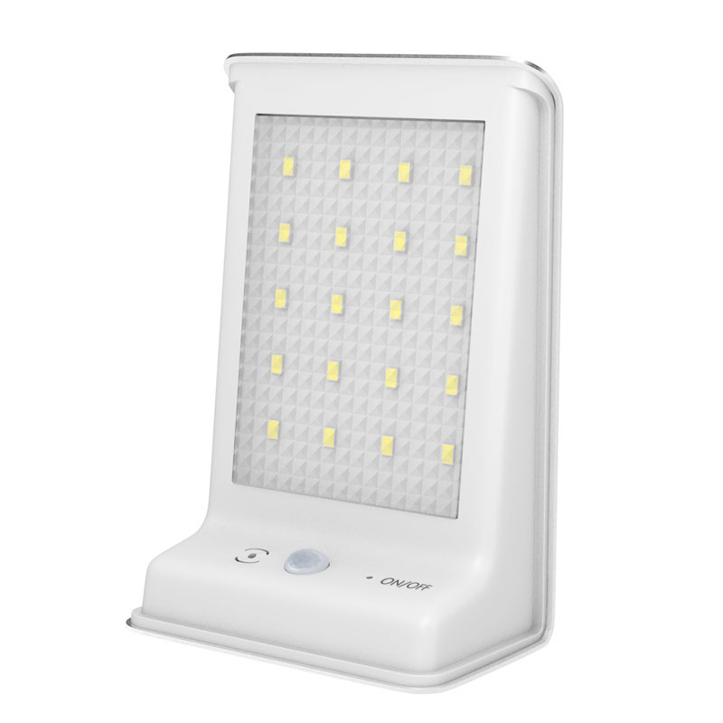 Binval 20 LED Solar Powered Light Outdoor Lamp Motion Sensor Wall Waterproof For Yard Garden Lamps