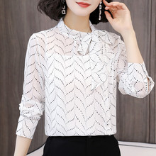 Korean Chiffon Women Blouses Women Shirts Elegant