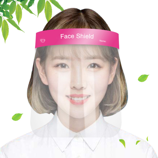 2020 New Protective Adjustable Anti Droplet Dust-proof Full Face Cover Mask Visor Shield Full face protection dust shield baffle 1