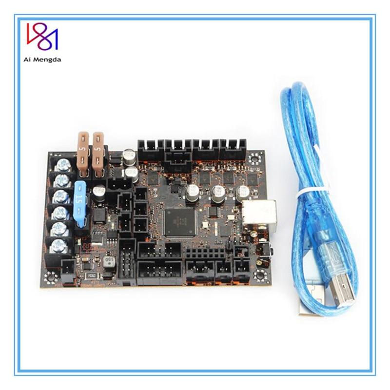Einsy rambo 1.1b mainboard para prusa i3 mk3 mk3s impressora 3d tmc2130 drivers de passo spi 4 mosfet comutados saídas