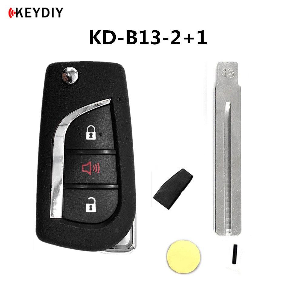 Автомобильный ключ KEYDIY KD B13 для Toyota KD900/KD-X2, программатор с дистанционным управлением серии B с чипом KD и 13 # Uncut Blade
