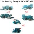 Оригинал для Samsung Galaxy A10 A30 A40 A50 M20 M30 A750 A920 USB зарядное устройство Порт Разъем гибкий кабель с микрофоном