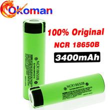 100 nowa bateria 18650 3400mah 3 7v bateria litowa do NCR18650B 3400mah nadaje się do bateria do latarki tanie tanio Okoman 3001-3500 mAh Li-ion NCR 18650B Baterie Tylko 1~10 Pakiet 1
