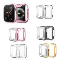 Protector de pantalla para carcasa de reloj Apple, 44mm, 40mm, 42mm, 38mm, accesorios de parachoques para Apple Watch Series 5 4 3 SE 6