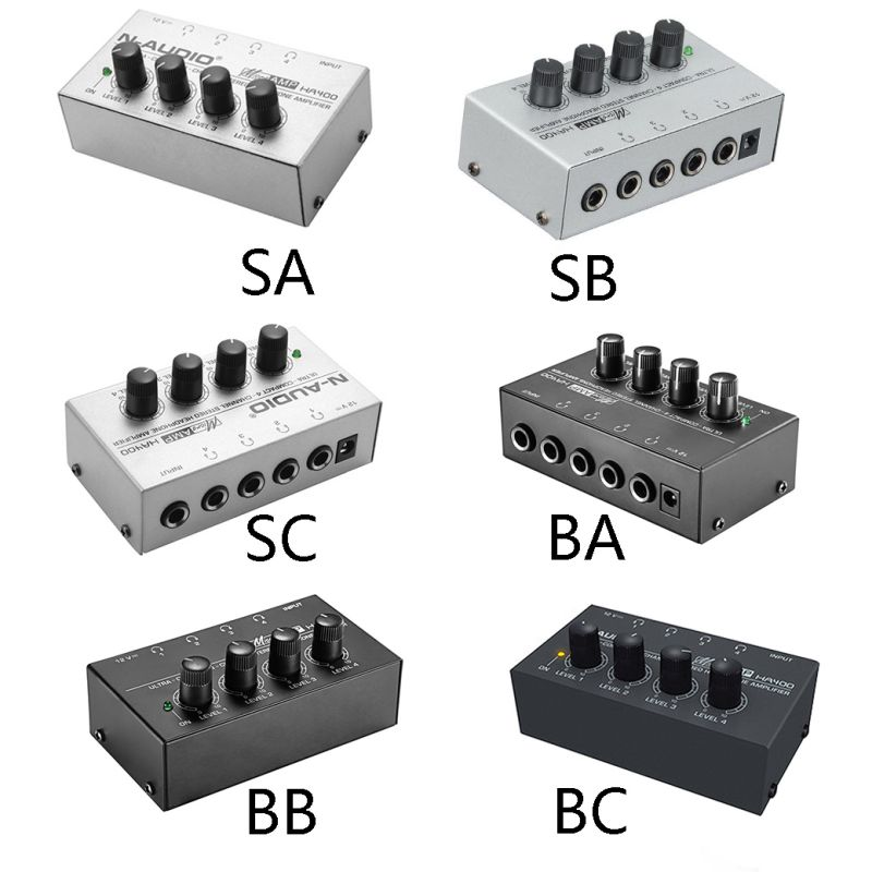 For Sound Reinforcement Studio 4 Channels Headphone <font><b>Amplifier</b></font> Mini Stereo <font><b>Audio</b></font> Earphone Splitter image