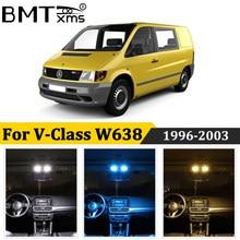 BMTxms 14 Uds coche Luz de techo Interior lámpara de placa de matrícula Canbus para Mercedes Clase V W638 638 /2 V200 V220 V230 V280 1996-2003