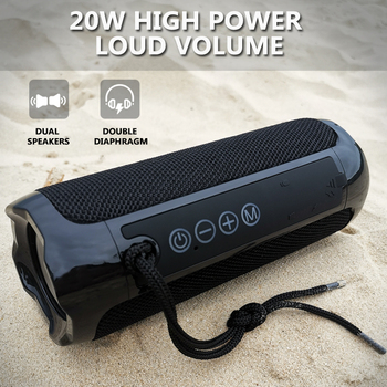 20W Wireless Bluetooth Speaker TWS Portable Outdoor HiFi Subwoofer Sound Blaster Music Center Stereo with FM / TF Card / AUX