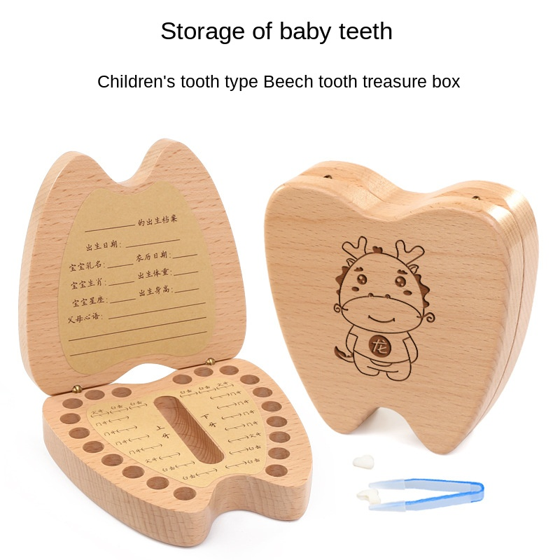 Tooth Box Girl Commemorative Children's Tooth Replacement Storage Box Baby Fetal Hair Preservation Collection Boy Teeth Box
