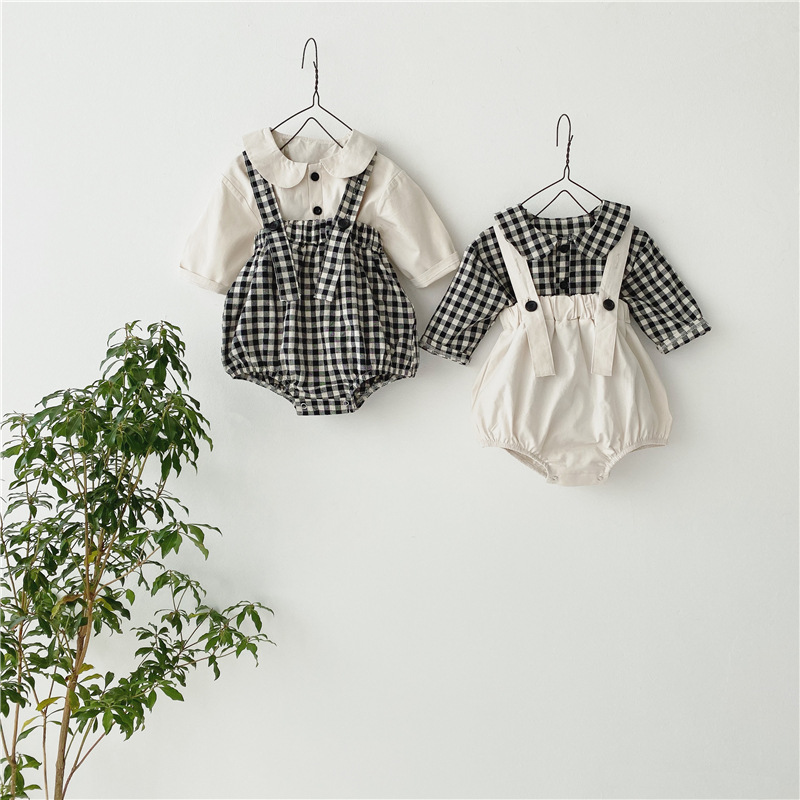MILANCEL  fashion baby clothing little pumpkin baby bodysuits and blouse 2 pcs infant girls boys clothes set