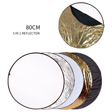 80Cm 5 In 1 Draagbare Inklapbare Ronde Licht Reflector Flash Accessoires Voor Foto Studio Multi Photo Disc Diffuers