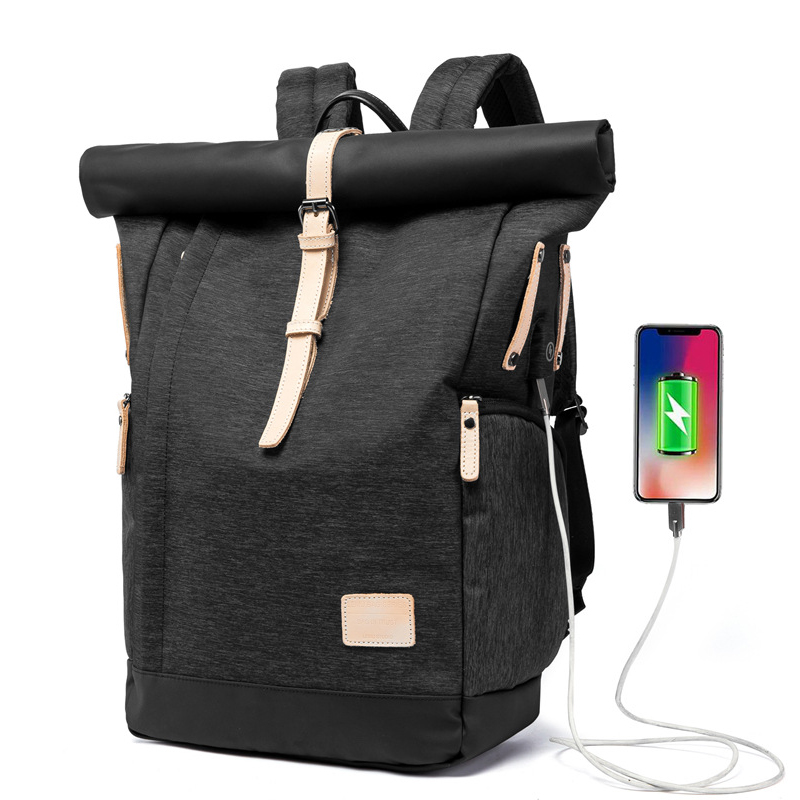 Large Capacity 15.6 Inch Laptop Bag Man USB Charging Backpacks 15.6 Inch Laptop Bag Black School Bags Male Mochila Masculina