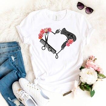 2020 Hairdresser Shirt Funny Hairtylist T-shirt Cute Stylist Life Tees for Women Hairstylist Gift Harajuku Shirt Tumblr Tops 1