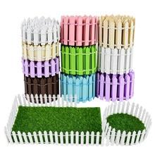 100 cm/rolka 3cm 5cm drewniane ogrodzenia drewniane bariery DIY Mini krajobraz bajki figurki ogrodowe miniatury akcesoria rękodzieło