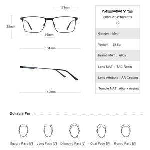 Image 3 - MERRYS DESIGN Men Titanium Alloy Glasses Frame Myopia Prescription Eyeglasses Optical Frame Business Style S2177
