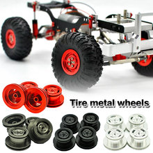 4pcs/set Aluminum Alloy RC Car Wheel Rim Hub For MN-D90 MN-99 MN-91 FJ45 1/16 RC Car Accessories 4 Colors 4pcs metal wheel rim beadlock wheel hub 1 55 inch rc car aluminum alloy black wheel rim for 1 10 rc crawler car model toy