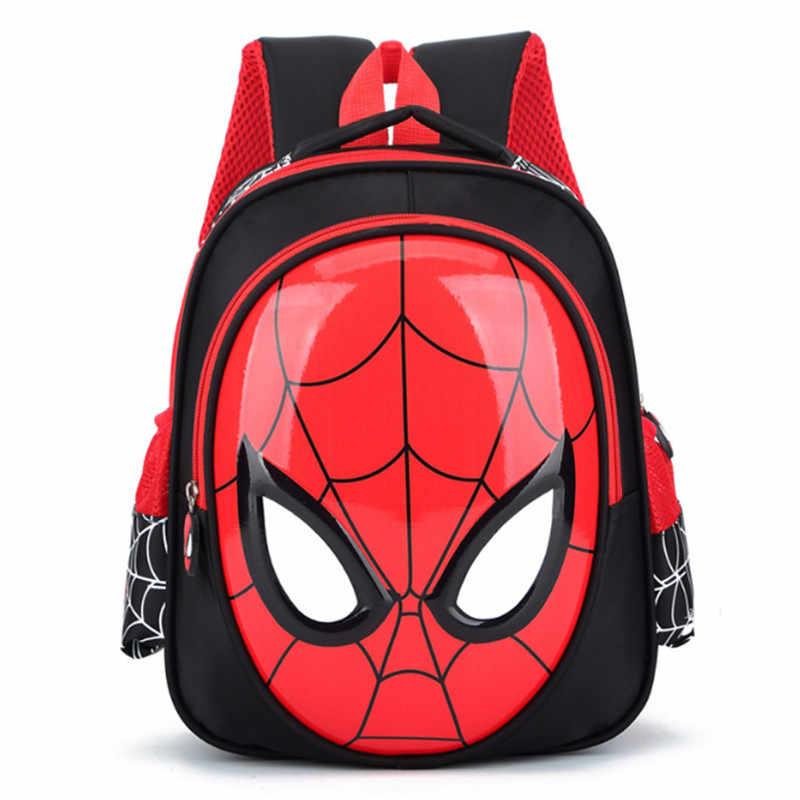 Baru Anak Laki-laki 3-6 Tahun Tua 3D Tas Sekolah Anak Spiderman Tas Anak Tas Bahu Tas Ransel 2020 panas Tahan Air Ransel