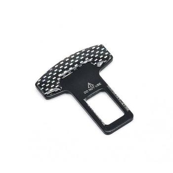 Universal Carbon Fiber Car Safety Seat Belt Buckle Clip Clamp Extender Interior Stopper Car Auto Alarm Accessories Seat Too G6A5 image